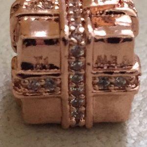 Pandora Jewelry - NWOT Pandora sparkling gift charm, rose gold